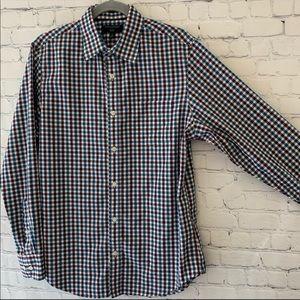 Banana republic slim fit plaid button down shirt